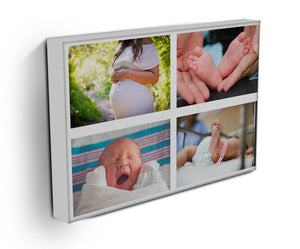 Personalised 4 Photo Collage Canvas - Landscape
