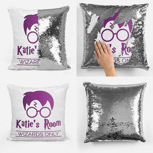 Personalised Wizards Only - Reveal Pillow Cushion