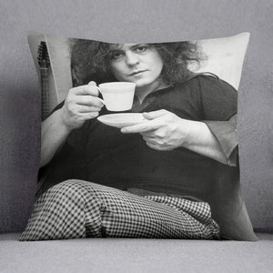 Singer Marc Bolan with tea Cushion