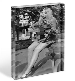 Singer Mary Hopkin Acrylic Block - Canvas Art Rocks - 1