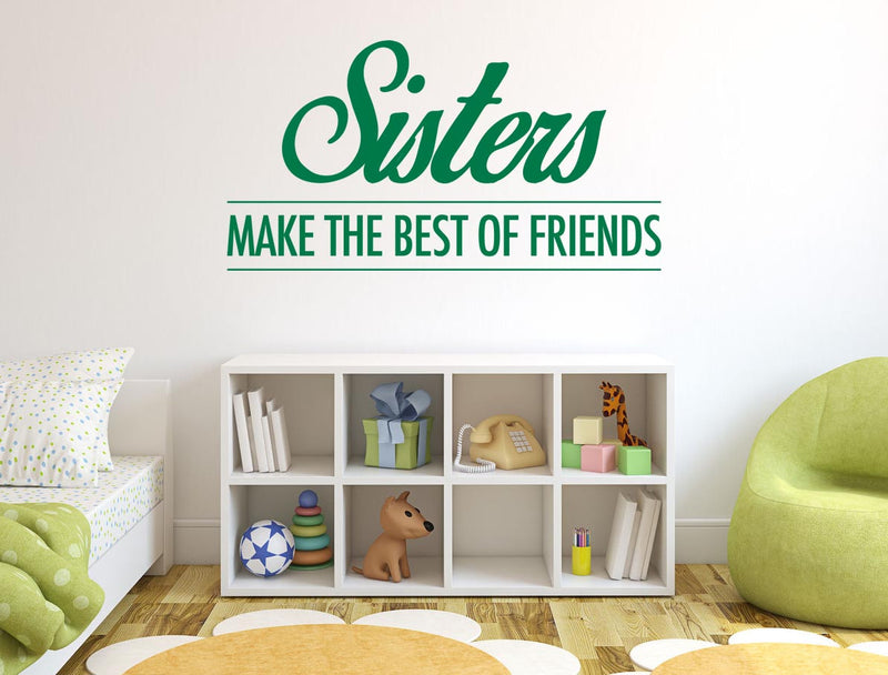Sisters Friends Wall Sticker - Canvas Art Rocks - 1