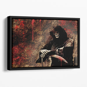 Skeleton Floating Framed Canvas