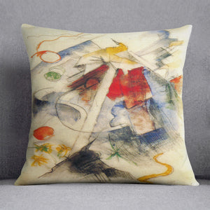 Sketch of the Brenner road 1 by Franz Marc Cushion