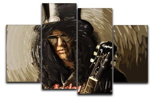 Slash 4 Split Panel Canvas  - Canvas Art Rocks - 1