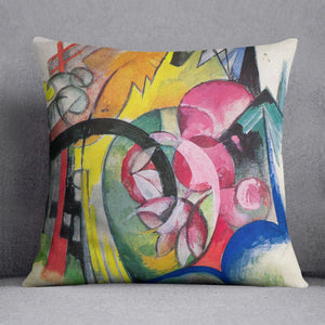 Small composition II by Franz Marc Cushion