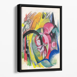 Small composition II by Franz Marc Floating Framed Canvas