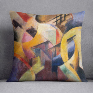Small composition I by Franz Marc Cushion