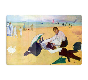 Small girls on the beach by Degas HD Metal Print - Canvas Art Rocks - 1