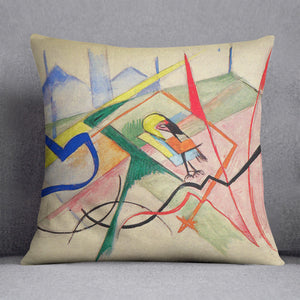 Small mythical creatures by Franz Marc Cushion