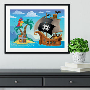 Small pirate island theme 2 Framed Print - Canvas Art Rocks - 1