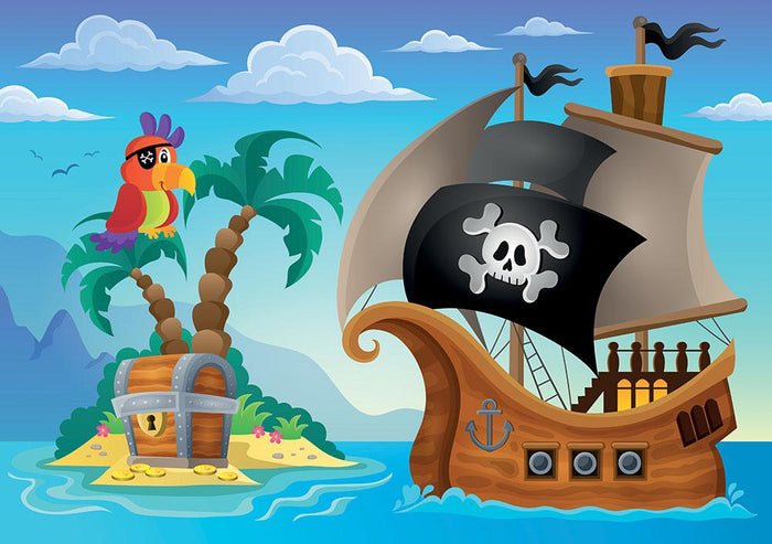 Small pirate island theme 2 Wall Mural Wallpaper