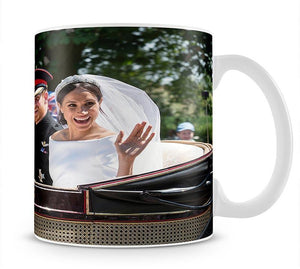 Smiling newlyweds Meghan and Prince Harry wave Mug - Canvas Art Rocks - 1