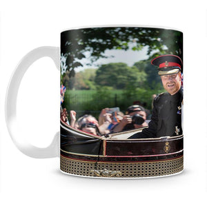 Smiling newlyweds Meghan and Prince Harry wave Mug - Canvas Art Rocks - 2