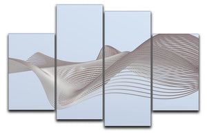 Smooth Lines 4 Split Panel Canvas - Canvas Art Rocks - 1