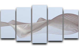 Smooth Lines 5 Split Panel Canvas - Canvas Art Rocks - 1