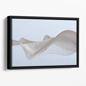 Smooth Lines Floating Framed Canvas - Canvas Art Rocks - 1