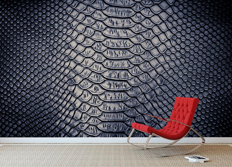 Snake skin texture Wall Mural Wallpaper - Canvas Art Rocks - 1