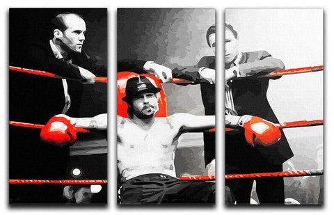 Snatch Boxing Ring 3 Split Canvas Print
