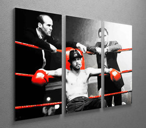 Snatch Boxing Ring 3 Split Canvas Print - Canvas Art Rocks