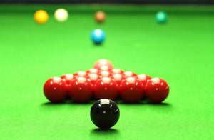 Snooker balls Wall Mural Wallpaper - Canvas Art Rocks - 1