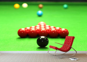 Snooker balls Wall Mural Wallpaper - Canvas Art Rocks - 2