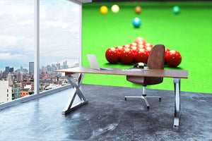 Snooker balls Wall Mural Wallpaper - Canvas Art Rocks - 3