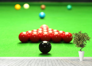 Snooker balls Wall Mural Wallpaper - Canvas Art Rocks - 4