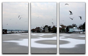 Snow Circles 3 Split Panel Canvas Print - Canvas Art Rocks - 1