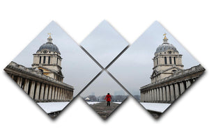 Snow in Greenwich 4 Square Multi Panel Canvas - Canvas Art Rocks - 1