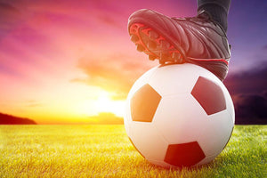 Soccer ball at the kickoff Wall Mural Wallpaper - Canvas Art Rocks - 1