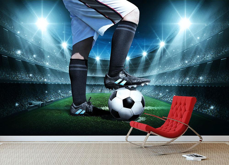Soccer concept Wall Mural Wallpaper - Canvas Art Rocks - 1