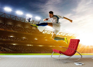 Soccer player in action Wall Mural Wallpaper - Canvas Art Rocks - 2