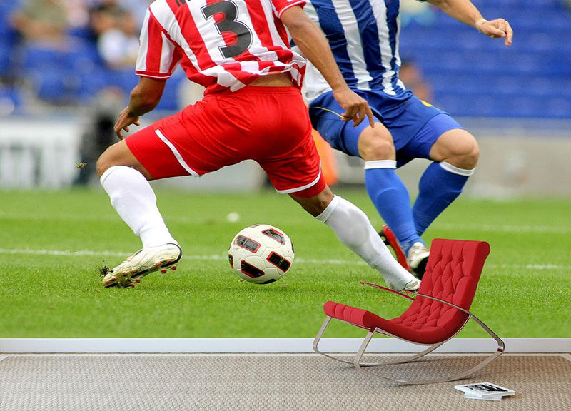 Soccer player legs in action Wall Mural Wallpaper - Canvas Art Rocks - 1