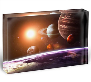 Solar system and space objects Acrylic Block - Canvas Art Rocks - 1