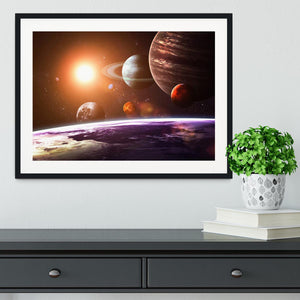 Solar system and space objects Framed Print - Canvas Art Rocks - 1