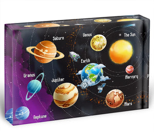 Solar system of planets Acrylic Block - Canvas Art Rocks - 1