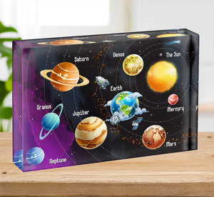 Solar system of planets Acrylic Block - Canvas Art Rocks - 2