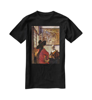 Soldier and girl smiling by Vermeer T-Shirt - Canvas Art Rocks - 1