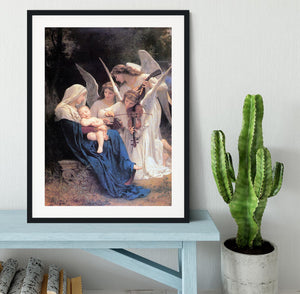 Song of the Angels By Bouguereau Framed Print - Canvas Art Rocks - 1