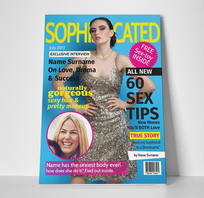 Sophisticated Magazine Cover Spoof Canvas Print