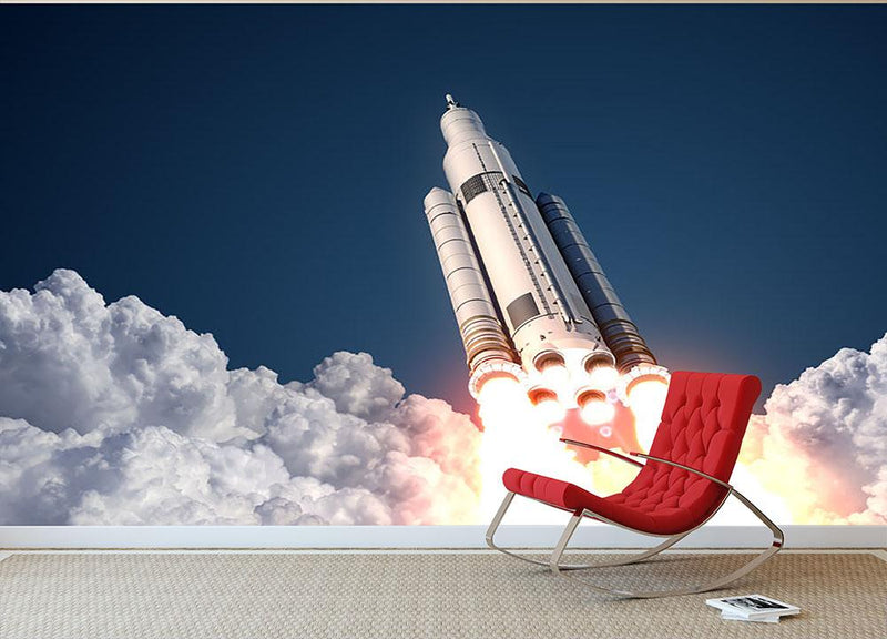 Space Launch System Takes Off Wall Mural Wallpaper - Canvas Art Rocks - 1