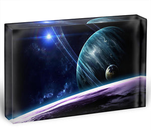 Space Planets Acrylic Block - Canvas Art Rocks - 1