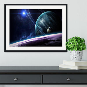 Space Planets Framed Print - Canvas Art Rocks - 1