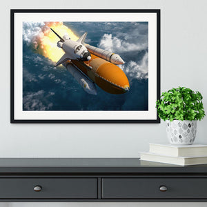 Space Shuttle Lift Off Framed Print - Canvas Art Rocks - 1