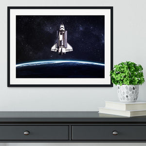 Space Shuttle on a mission Framed Print - Canvas Art Rocks - 1