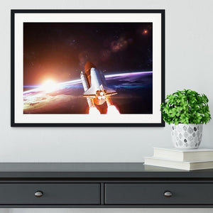 Space Shuttle over the Earth Framed Print - Canvas Art Rocks - 1