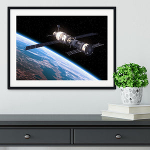 Space Station In Space Framed Print - Canvas Art Rocks - 1