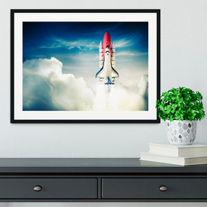 Space shuttle taking off on a mission Framed Print - Canvas Art Rocks - 1