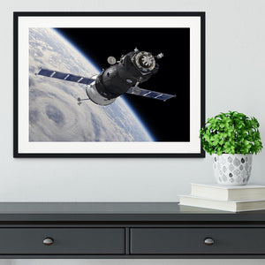 Spaceship Soyuz TMA at the Earth orbit Framed Print - Canvas Art Rocks - 1