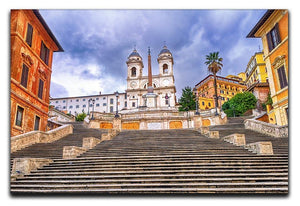Spanish Steps and Trinita dei Monti church Canvas Print or Poster  - Canvas Art Rocks - 1